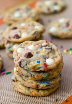 These Cake Batter Chocolate Chip Cookies are loaded with everything that is delicious.