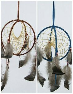 Dreamcatchers on pinterest dream catchers soul for How to make a double ring dreamcatcher