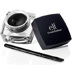 This stuff hardly moves when you set it with black eyeshadow. Stayed on during a 2 hour volleyball practice! You have to warm the pot in your hand a little before using it or it will get really clumped up on the tiny, unhelpful brush that comes with the eyeliner. $5.49 http://amzn.to/ySGxmC
