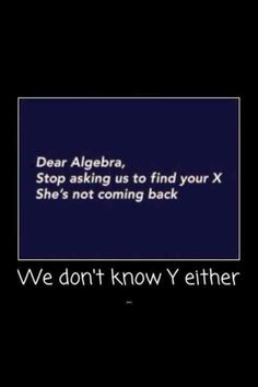 I will be oh so happy to no longer need to solve for x. Or y. Or f(x), g(x), (FoG)(x) & (GoF)(x) or ... or ... or ...