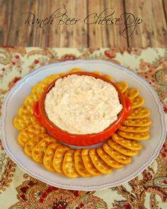 Ranch Beer Cheese Dip - perfect dip for watching the Kentucky Derby. It is also great on top of a burger!
