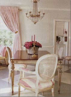 #pink dining room.