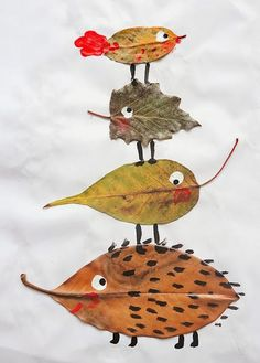 fall leaves, autumn leaves, fall crafts, autumn craft, leaf crafts, leaf art, craft ideas, kid craft, animal