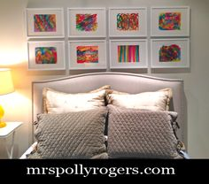 Click here to DIY Abstract Art for your walls.  Tips & tricks on Blog.  From MrsPollyRogers.com