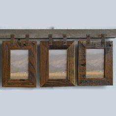 Montana Conestoga Vertical Barnwood 3 Picture Frame 4x6