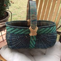 Oval Melon Basket w/TWILL Handle KIT in BLUE from J. Choate Basketry for $80.00 on Square Market