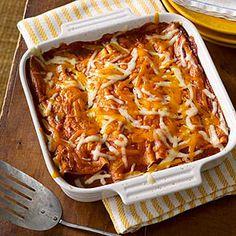 Vegetable and Pinto Bean Enchiladas | MyRecipes.com
