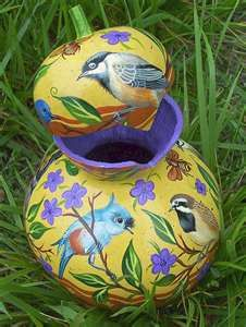 More Painted Gourds ... - WetCanvas gourd art, painted gourds, paint gourd