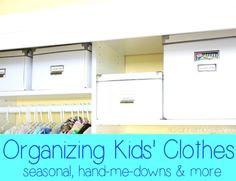 Tips and ideas for organizing kids' clothes from @Amanda Skinner Anna