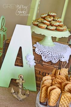 Mint and Gold Vintage
