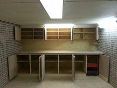 Werkbank garage maken