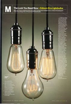 How to make your own industrial style lighting. #edison #lamp #diy