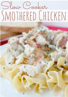 Still searching for the ultimate smothered chicken recipe? Look no further! This Slow Cooker Bacon Smothered Chicken recipe will end your hunt for easy chicken dinner recipes forever. With creamy, smokey, savory flavors throughout, there is nothing but rich and comforting goodness in every bite.