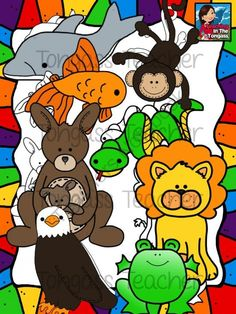 Reading Strategy Animals Clipart Bundle from tongassteacher on TeachersNotebook.com -  (16 pages)  - Beanie baby animals are such a fun way to teach those fundamental reading strategies! This 16 piece clipart bundle features an eagle, snake, frog, kangaroo, dolphin, lion, and a monkey!