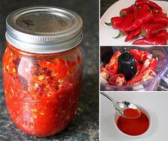 homemade sriracha, sauce recipes, homemad sriracha, food processor, homemade siracha