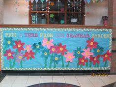 Our Grammar Garden - Verbs (Circles have a noun and the petals are verbs about that noun)