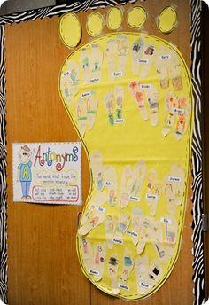 books, anchors, language activities, anchor charts, idea board, languag art, blog, antonym, first grade