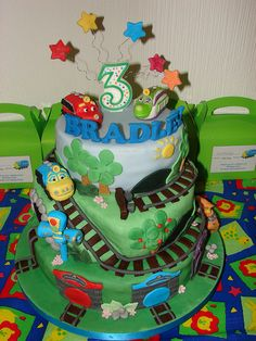 Chugginton theme 3-tiered cake