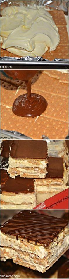 boxed cake, hugs and cookies xoxo, eclair cake, cooki xoxo, ice box cakes, ice box cake recipes, eclair ice, dessert