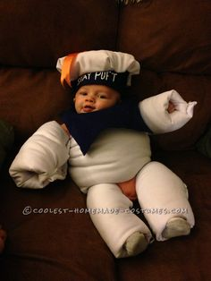Adorable Stay Puft Marshmallow Baby Costume... Coolest Halloween Costume Contest