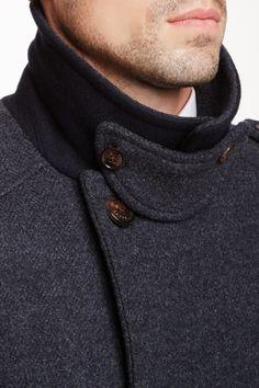 Lolplum Double Breasted Wool Blend Coat on HauteLook