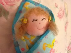 Swaddle Baby Doll 8 inch Soft Cuddly First Doll by PeekabooPorch