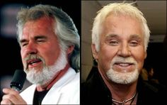 Aging... Kenny Rogers  (a scary reality of aging mixed with too much plastic surgery)