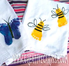 Kids Footprint Towels for Mother's Day from Creative Green Living at B-InspiredMama.com #myperfectmothersday