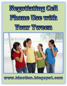 Here is a great blog that offers a great idea on how to negotiate cell phone use with teens!!