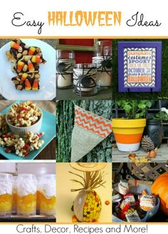 Easy Halloween Ideas for the family!  #Halloween #crafts #recipes