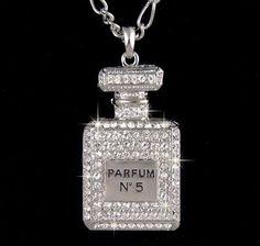 chanel, crystal vintag, perfum bottl, necklac, swarovski crystals, swarovski vintag, vintage perfume bottles, inspir perfum, vintage inspired