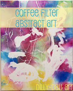 Abstract art with coffee filters and rubber cement resist
