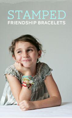 Stamped Friendship Bracelets {DIY Gift}
