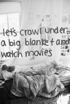 big blanket, watch movie