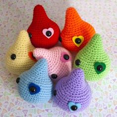 Toys crocheted