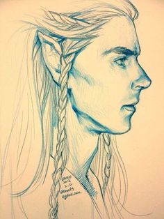 benedict cumberbatch drawing, drawings, the hobbit, art, tolkien, lord, fandom, elf, elves