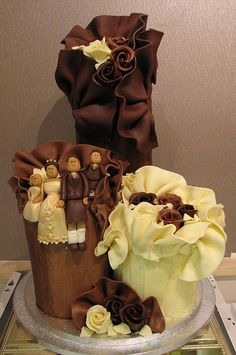 chocolate wedding cake, #wedding #cake
