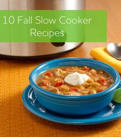 Try out these 10 slow cooker recipes, including this white chicken chili, to save you time this fall with kids returning to school!