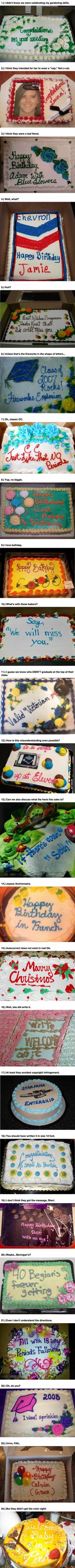 These 24 Bakery Fails Made Cakes Instantly Awesome.