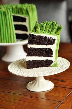 'asparagus' cake