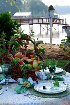 beautiful tablescape & restful venue