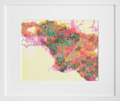 prettymaps (la)  by Aaron Straup Cope prettymap, aaron straup, maps, pretti map, art, la map, los angeles, straup cope, design