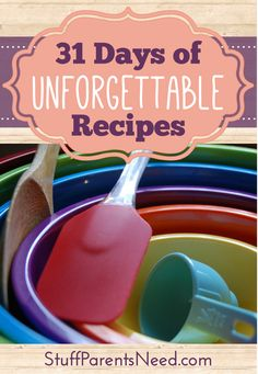 Over 300 different recipes to help you find the perfect creation for any occasion! New category every day for an entire month. Perfect for busy parents! #recipes #31Days