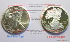 Fake silver coins --