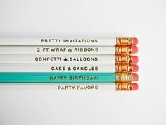 tie these pencils up with a ribbon