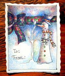 LeeAnn's Zentangle-ing Fun - Christmas Gallery. snowman art