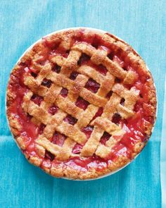 Spring Dessert Recipes // Rhubarb-Strawberry Lattice Pie Recipe