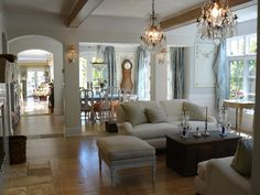 Country Swedish Inspired 2nd Story Addition/Remodel - traditional - living room - san francisco - Howard Bankston & Post