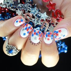 kt_tk1's 4th of July nail inspo. Tag yours with #SephoraNailspotting for the chance to be featured! #Sephora #nails #nailpolish