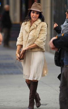 skirt, fall fashions, kourtney kardashian, style, tall boots, outfit, the dress, fur, hat
